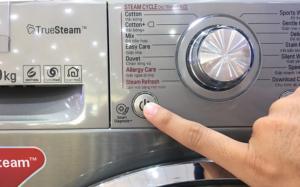 Cách reset máy để khắc phục lỗi FE trên máy giặt LG